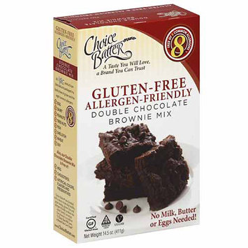 Choice Batter Allergy-Friendly Double Chocolate Brownie Mix, 14.5 oz, (Pack of 6)