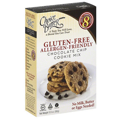 Choice Batter Allergy-Friendly Chocolate Chip Cookie Mix, 13.5 oz, (Pack of 6)