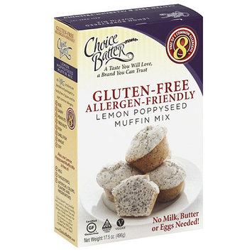 Choice Batter Allergy-Friendly Lemon Poppyseed Muffin Mix, 17.5 oz, (Pack of 6)