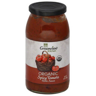Greenview Kitchen Organic Spicy Tomato Pasta Sauce, 25 oz, (Pack of 6)