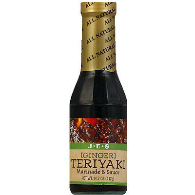 Ebara JES Ginger Teriyaki Marinade & Sauce, 14.7 oz, (Pack of 6)