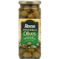 Reese Stuffed With Minced Anchovy Manzanilla Olives, 10 oz, (Pack of 12)
