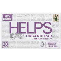 Helps Organic R & R Caffeine Free Herbal Dietary Supplement Tea Bags, 20 count, (Pack of 6)