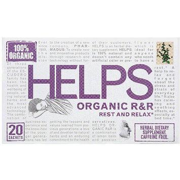 Helps Organic R & R Caffeine Free Herbal Dietary Supplement Tea Bags, 20 count, (Pack of 6)