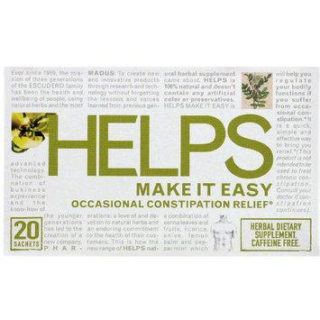 Helps Make It Easy Caffeine Free Herbal Dietary Supplement Tea Bags, 20 count, (Pack of 6)