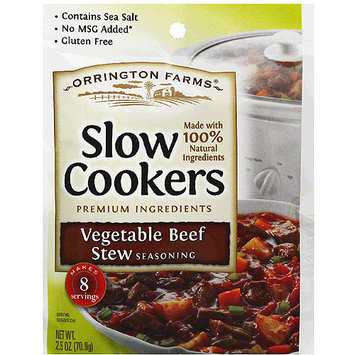Orrington Farms Slow Cookers Vegetable Beef Stew Seasoning Mix, 2.5 oz, (Pack of 12)
