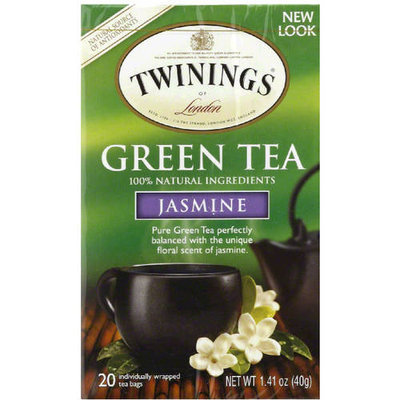 Twining Tea Twinings of London Jasmine Green Tea Bags, 20 count, 1.41 oz, (Pack of 6)