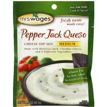 Mrs. Wages Medium Pepper Jack Queso Cheese Dip Mix, 1.5 oz (Pack of 12)