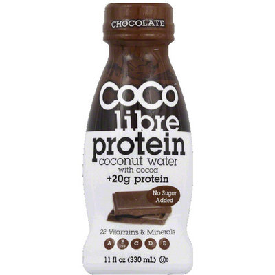 CoCo Libre Protein Chocolate Coconut Water, 11 fl oz, (Pack of 12)