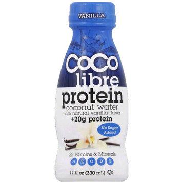 CoCo Libre Vanilla Protein Coconut Water, 11 fl oz (Pack of 12)