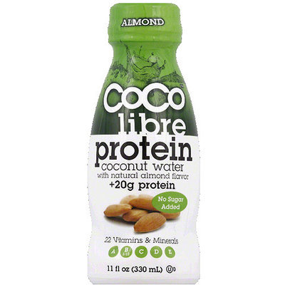 CoCo Libre Protein Almond Coconut Water, 11 fl oz, (Pack of 12)