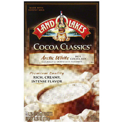 Land O'Lakes Cocoa Classics Arctic White Hot Cocoa Mix, 6.25 oz, (Pack of 12)