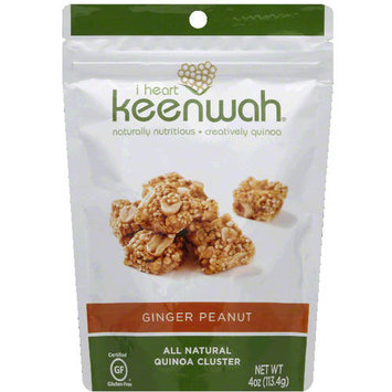 I Heart Keenwah Ginger Peanut All Natural Quinoa Clusters, 4 oz, (Pack of 12)