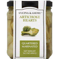 Cucina & Amore Quartered Marinated Artichoke Hearts, 14.5 oz, (Pack of 6)