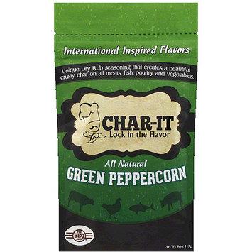 Char It Char-It Green Peppercorn Dry Rub Seasoning, 4 oz, (Pack of 6)