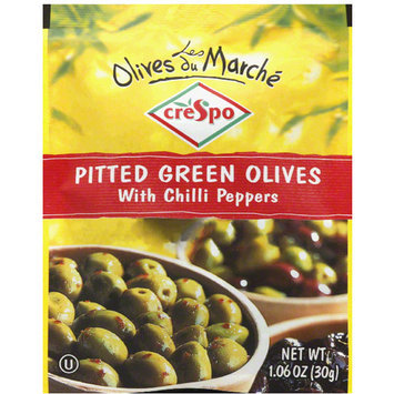 Crespo e Pitted Green Olives with Chilli Peppers, 1.06 oz (Pack of 20)