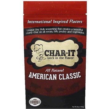 Char It Char-It American Classic Dry Rub Seasoning, 4 oz, (Pack of 6)