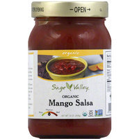 Sage Valley Organic Mango Salsa, 16 oz, (Pack of 12)