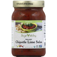 Sage Valley Organic Chipotle Lime Salsa, 16 oz, (Pack of 12)