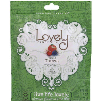 Lovely Candy Co. Fruit Chews Candy, 6 oz (Pack of 12)