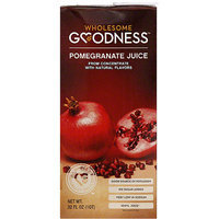 Wholesome Goodness Pomegranate Juice, 32 fl oz, (Pack of 12)