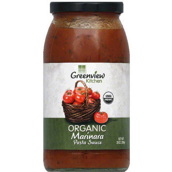 Greenview Kitchen Organic Marinara Pasta Sauce, 25 oz, (Pack of 6)