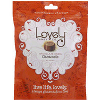 Lovely Candy Co. Chocolate Swirl Caramels Candy, 6 oz (Pack of 12)