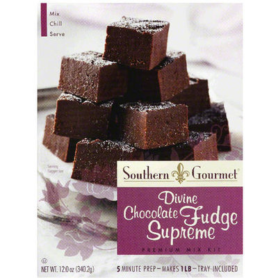 Southern Gourmet Divine Chocolate Fudge Supreme Premium Mix Kit, 12 oz, (Pack of 6)