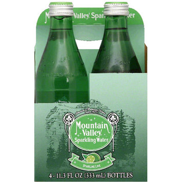 Mountain Valley Sparkling Lime Sparkling Water, 45.2 fl oz, (Pack of 6)