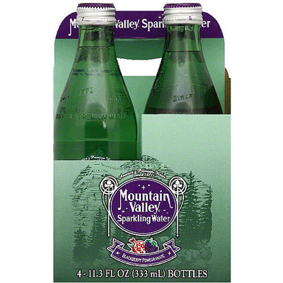 Mountain Valley Blackberry Pomegranate Sparkling Water, 45.2 fl oz, (Pack of 6)