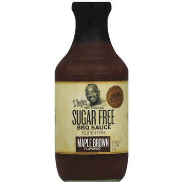 G Hughes Smokehouse Sugar Free Maple Brown Flavored BBQ Sauce, 18 oz, (Pack of 6)