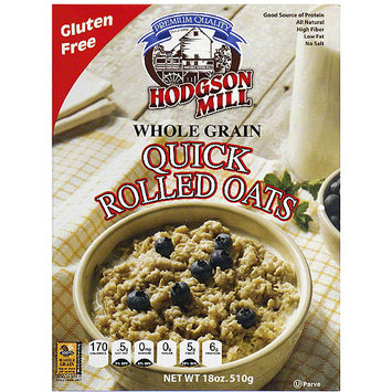 Hodgson Mill uick Rolled Oats, 18 oz (Pack of 6)