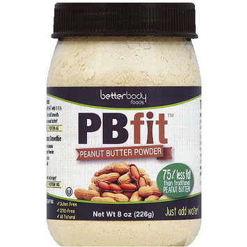 BetterBody Foods PB Fit Peanut Butter Powder, 8 oz, (Pack of 6)
