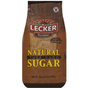 Lecker Natural Turbinado Sugar, 2 lbs, (Pack of 18)