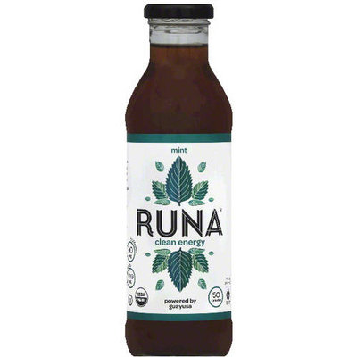 Runa Mint Clean Energy Guayusa, 14 fl oz (Pack of 12)