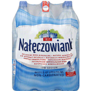 Naleczowianka Natural Mineral Water, 50.7 fl oz, 6 pack