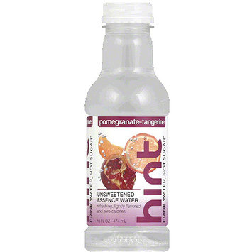 Hint Pomegranate-Tangerine Unsweetened Essence Water, 16 fl oz, (Pack of 12)