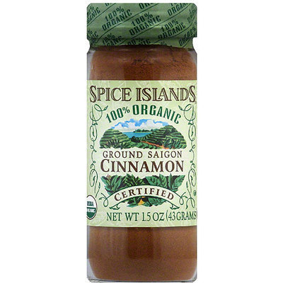 Spice Islands 100% Organic Ground Saigon Cinnamon, 1.5 oz (Pack of 3)
