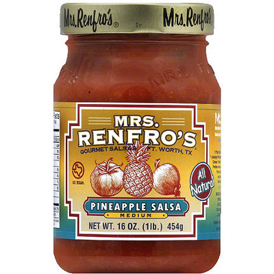 Mrs. Renfro's Medium Pineapple Salsa, 16 oz, (Pack of 6)