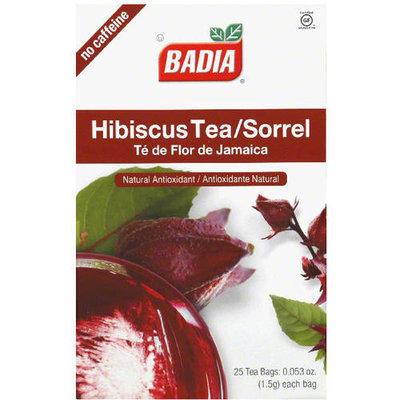 Badia Decaffeinated Hibiscus Tea Bags, 0.053 oz, 25 count (Pack of 10)