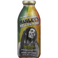 Marley's Mellow Mood Green Tea with Honey Decaffeinated Dietary Supplement, 16 fl oz, (Pack of 12)