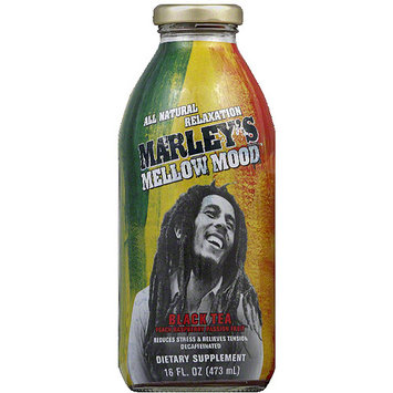 Marley's Mellow Mood Peach Raspberry Passion Fruit Black Tea Decaffeinated Dietary Supplement, 16 fl oz, (Pack of 12)