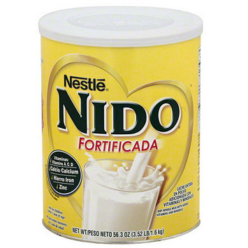 Nido Fortificada Whole Milk Powder with Added Vitamins and Minerals, 56.3 oz, (Pack of 6)