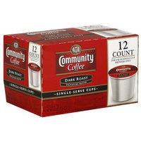 Community Coffee Dark Roast Coffee Single Serve Cups, 4.65 oz, (Pack of 6)
