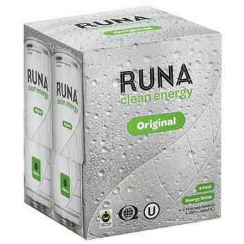 Runa Clean Energy Original Sparkling Energy Drink, 33.6 fl oz, (Pack of 6)