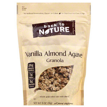 Back to Nature Vanilla Almond Agave Granola, 11 oz, (Pack of 6)