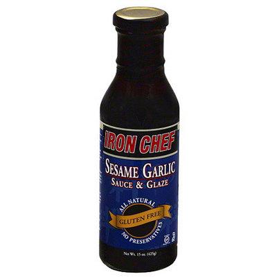 Iron Chef Gluten Free Sesame Garlic Sauce & Glaze, 15 oz, (Pack of 6)