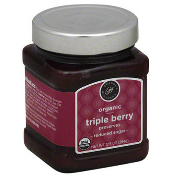 Grandma Hoerners Grandma Hoerner's Organic Reduced Sugar Triple Berry Preserves, 12.5 oz, (Pack of 6)