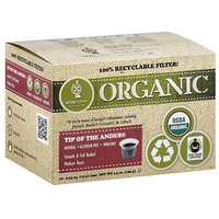 White Coffee Organic Tip of the Andes Medium Roast Coffee, 0.35 oz, 10 count (Pack of 4)