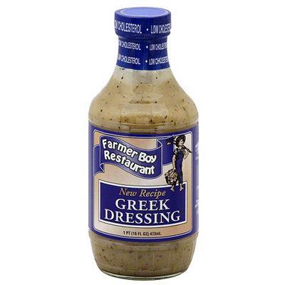 House Recipe Farmer Boy Restaurant Greek Dressing, 16 fl oz (Pack of 6)